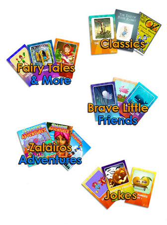 Skoolbo Story Books - fairy tales, adventure, classics like the Wizard of Oz and Beatrix Potter, joke books and more